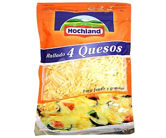 HOCHLAND Queso rallado 4 quesos 150 gramos