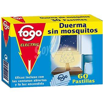 Fogo Insecticida volador electrico antimosquitos recambio 60 pastillas 60 pastillas