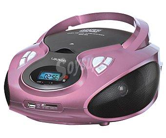 Lauson Radio CD CP-438 radio am/fm, lector tarjetas, usb, jack 3.5mm, rosa radio am/fm, lector tarjetas, usb, jack 3.5mm, rosa