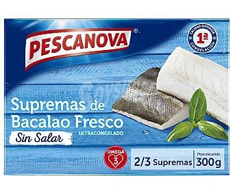 Pescanova Supremas de bacalao fresco ultracongelado y sin salar 300 g
