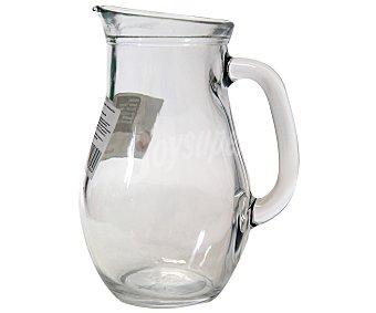 AUCHAN Jarra para agua modelo bistro, con capacidad de 1 litro y fabricada en vidrio 1 Unidad