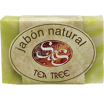 S&S Pastilla de jabón natural de Tea Tree Pastilla 100 g