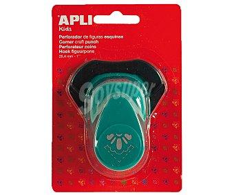 APPLI Perforadora de figuras de esquinas con forma de media flor, de color turquesa y de 25.4 mm apli.