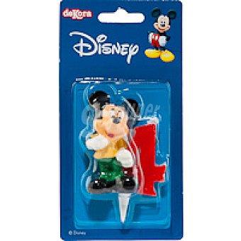 DEKORA Vela Familia Disney Nº4 1 unidad