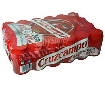 Cruzcampo Cerveza especial (nuevo punto glacial) 24 unidades