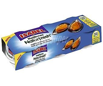 Isabel Mejillón Naturfresh al natural 3 latas de 92 g
