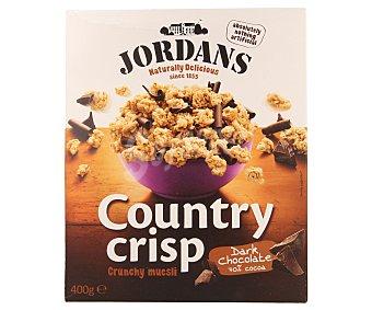 Jordans Bolitas de cereales crujientes con rizos de chocolate negro 400 gramos