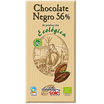 Sole chocolate negro 56% cacao ecológico Tableta 100 g