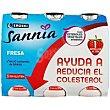 Reductor de colesterol sabor fresa Pack 6x100 g Eroski Sannia