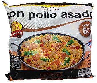 Hacendado Arroz pollo congelado Paquete 600 g