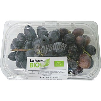 LA HUERTA Uva negra sin semilla ecológica tarrina 500 g