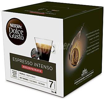 Dolce Gusto Nescafé Café descafeinado intenso espresso en monodosis Caja 16 u