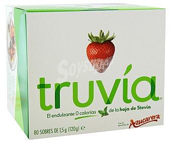 TRUVIA Endulzante 0 calorías de la hoja de Stevia 80 sobres de 1,5g (120 g)