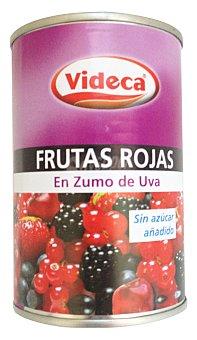 Videca Frutas rojas en zumo uva sin azucar (antioxidante) Bote 300 g