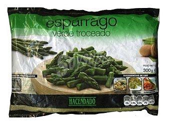 Hacendado Esparrago verde troceado congelado Paquete de 300 g