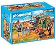 Conjunto de juego Diligencia con 2 figuras, carro tirado por caballos y accesorios, Western 70013 playmobil  Playmobil