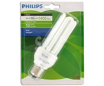 Philips Bombilla Genie tubo ahorradora 23W, luz fría, E27 1 Unidad