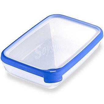 Curver Hermetico rectangular tapa transparente y azul 26 l 26 l