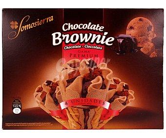 Somosierra Cono de chocolate con trocitos de brownie 120 mililitros
