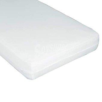 CASACTUAL  Funda para colchón blanca y elástica para cama de 135 cm 1 unidad