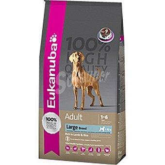 EUKANUBA ADULT LARGE BREED Alimento completo para perro adulto de razas grandes y gigantes con cordero y arroz Bolsa 15 kg