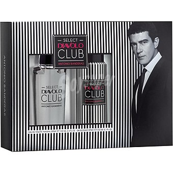 ANTONIO BANDERAS Select Diavolo Club eau de toilette natural masculina + desodorante spray 150 ml spray 100 ml