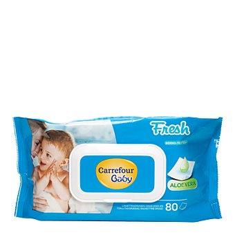 Carrefour Baby Toallitas de bebé con tapa 80 ud