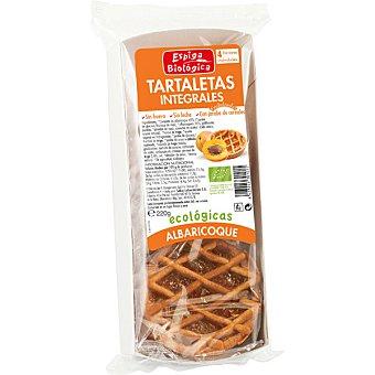 ESPIGA BIOLOGICA Tartaletas integrales ecológicas con albaricoque Envase 55 g