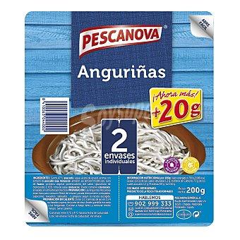 Pescanova Sucedáneo de angulas,sin gluten y sin lactosa angurinñas 2 x 100 g