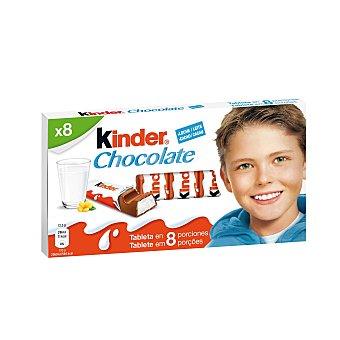 Kinder Barritas de chocolate con leche Envase 100 g (8 uds)