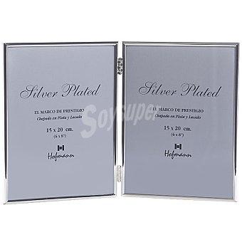 Hofmann Marco metalico doble de 10 x 15 cm