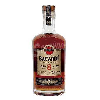 Bacardi Ron dorado 8 años gran reserva Botella de 70 cl