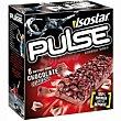 Barra Pulse de chocolate Caja 138 g Isostar