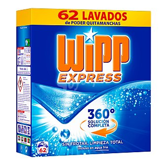 Wipp Express Detergente en polvo 65 cacitos