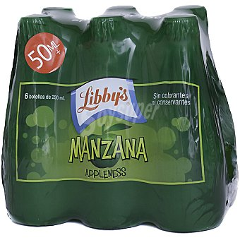 Libby's Nectar de manzana con gas sin conservantes ni colorantes pack 6 botellas 25 cl Pack 6 botellas 25 cl
