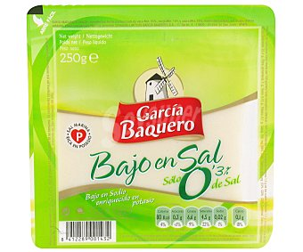 García Baquero Queso bajo en sal y semicurado de vaca, cabra y oveja 250 gramos