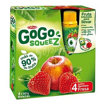 Gogo Squeez Fruta triturada de manzana-fresa Pack 4x90 g