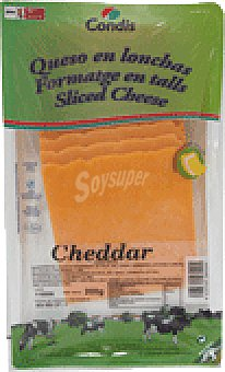 Condis Queso cheddar loncha 200 GRS