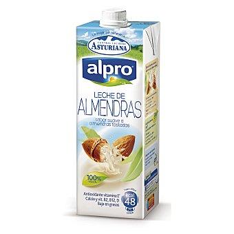 ASTURIANA ALPRO leche de almendras tostadas 100% vegetal baja en grasas con antioxidante y calcio envase 1 l