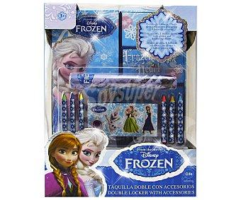Disney Taquilla Doble Glitter con Accesorios Frozen 1u