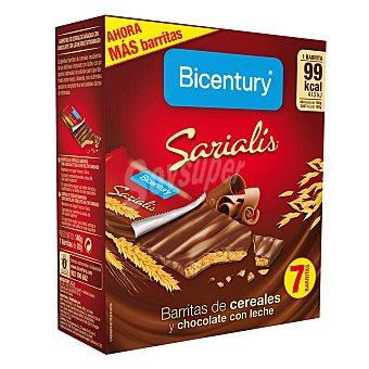 Bicentury Barritas de cereales y chocolate con leche 7 ud