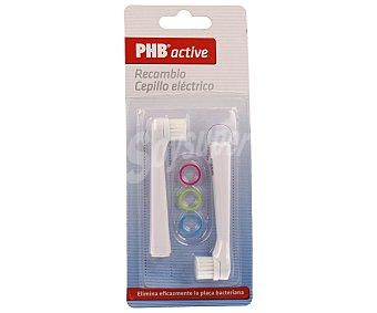 Phb Recambio de cabezal de cepillo eléctrico Active 2 uds