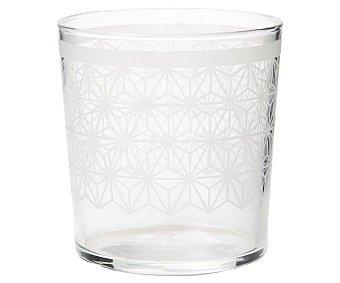 LUMINARC Manila Vaso Manila de 0,36 litros con diseño geométrico color blanco, luminarc. 0,36 litros