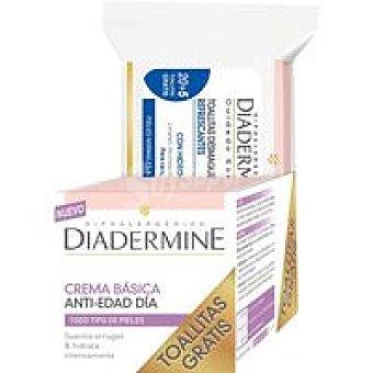 Diadermine Crema Basic Anti Edad Pack 1 unid. + Toallitas