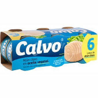 Calvo 1/4 Box Atun Claro 6x80