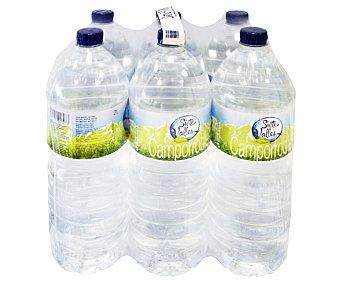 SIETE VALLES Aguan mineral Pack 6 Unidades de 2 Litros