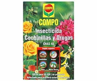 COMPO Insecticida cochinillas y orugas (Chas 48), autorizado para jardinería exterior doméstica 100 Mililitros