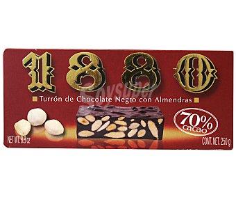 1880 Turrón de chocolate negro con almendras 250 gramos