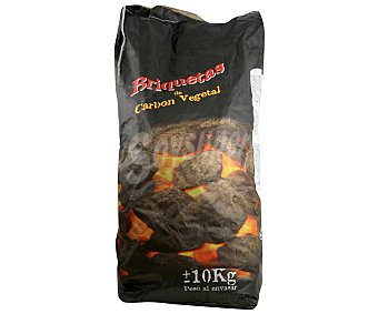 GLOBALPLANT Briquetas de carbón vegetal 10 Kilogramos