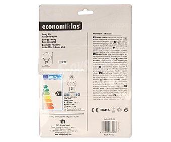 Economiklas Bombilla bajo consumo globo 20W, con casquillo E27 (grueso) y luz fría 1 unidad